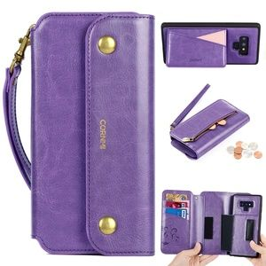CORNMI Galaxy Note 9 Wallet Case, Zipper Pocket 8